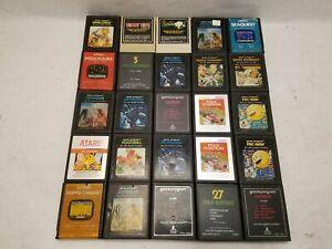 Lot of 25 Atari Cartridges (Ms. Pac-Man, Donkey Kong, etc.)