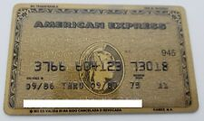 MEXICO - AMERICAN EXPRESS - EXPIRED CREDIT CARD - GOLD - 1986 - OLD & RARE