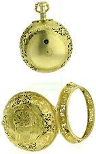 Oignon Repetition 2Gehäuse 20k Gold Repousse Spindel Taschenuhr Verge fusee 1700