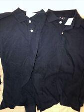 Lot Two The Children's Place Big Boys Long Sleeve Uniform Polo Size 14 Xl