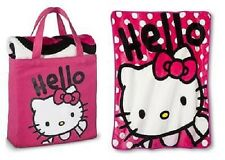 NEW HELLO KITTY SILK TOUCH BLANKET THROW 40 X 50 & CANVAS TOTE BAG 2 PC GIFT SET