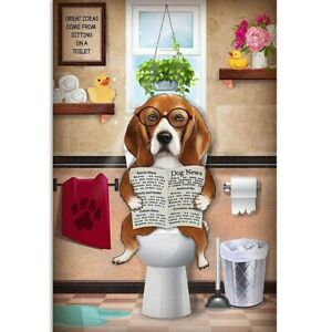 5D Diamond Painting Art Embroidery Cross Stitch Kits Tiger Home Toilet Dog