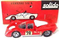 SOLIDO VINTAGE NO. 182 1/43 FERRARI 512S LE MANS RACE CAR - MINT BOXED