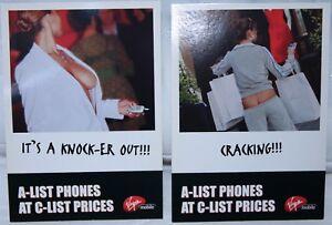 Promotional postcards for Virgin Mobile