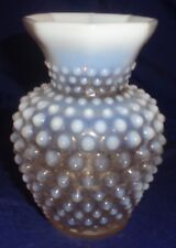 "SE924 Vtg Fenton Hobnail White Glass Vase 5.5"" High"