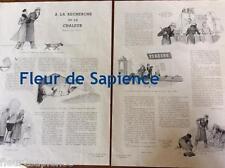 Coupure de presse A la recherche de la chaleur illustrations André Pécoud 1941