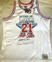 Dominique Wilkins signed autographed 1991 All-Star jersey + Human Highlight Film