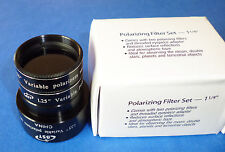 "1.25""  Variable Polarizers/Polarizing Filter Set for TELESCOPE, New Boxed, SALE!"