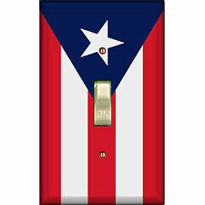 Flag of Puerto Rico - Single Decorated Light Switch Cover - Ds-116 Puerto Rican