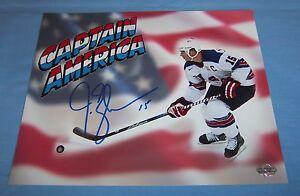 New Jersey Devils Jamie Langenbrunner Signed Autographed 8x10 Photo USA C