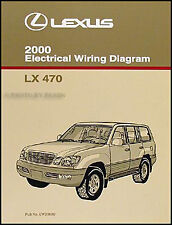 2000 Lexus LX 470 Wiring Diagram Manual NEW Electrical Schematics Original LX470