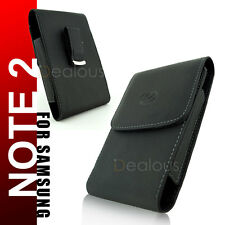 Samsung Galaxy Note II 2 N7100 Vertical Leather Holster Pouch Case Belt Clip