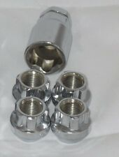 LUG WHEEL LOCK NUTS 9/16-18 OPEN END BULGE CHROME PLATED ACORN SEAT LOCKING LUGS