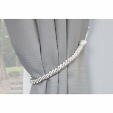 """Tie Back Drapery Chair 22"""" Twist Rope Conso Bed Bath Beyond Silver/Nickel 4 pack"""