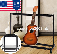 Electric Guitar Stand Triple Guitar Bass Stand Holder Stage Folding Display Rack