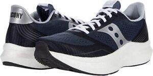 Saucony Men's Endorphin Pro Running Shoe, Navy/Silver, 9.5 D(M) US