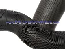 Kaminofen Flexrohr 100mm schwarz - 30cm - Frischluftanschluss - Aluflexrohr
