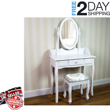 Makeup Desk Dresser  1 Drawer Stool White Mirror Bedroom  Nishano Dressing Table