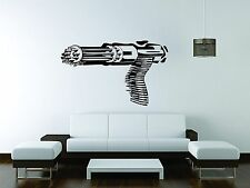 Machinegun Wall Mural Vinyl Decal Sticker Decor Gun Machine Weapon