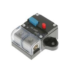 CAR STEREO AUDIO 12V CIRCUIT BREAKER FUSE INLINE FITS 4 GAUGE WIRE 80 AMP