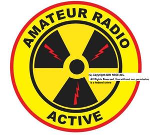 """4"""" PATCH """"Amateur Radio Active"""" (c) 2009 Emblem"""
