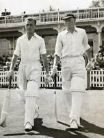 CRICKET OLD PHOTO?Peter Richardson, Mike Smith 1958 1st Test Match - Eng v Nz