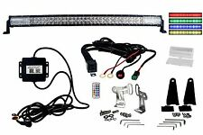 "RGB Series OZ-USA® 40"" Multicolor LED Light bar DRL Bluetooth Anti-Theft Offroad"