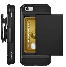 AMZER FULL BODY HYBRID CREDIT CARD CASE HOLSTER COVER FOR IPHONE 5 SE 6 6S PLUS