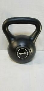 TKO 8 Lb Kettlebell black Eight lbs. Weight Gym Workout