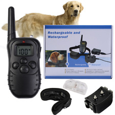 Electric Shock Anti Bark Collar Dog Train Collar With LCD Remote Control