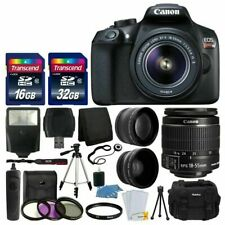 Canon EOS Rebel T6 Digital SLR Camera with Lens Kit, 48GB Memory Card, Filter...