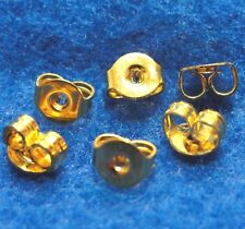 100 Pcs.Gold-Plated Round Brass Butterfly Earring BACKS Stoppers Tibetan EB17