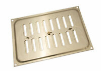 NEW PK 5 Polished Brass Hit And Miss Louvre Vent Ventilation Cover 9 X 6 Inches