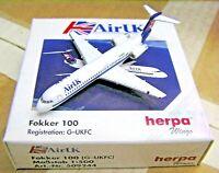 Herpa Wings 1:500 509244 Air UK Fokker 100 G-UKFC - Diecast Airplane Model