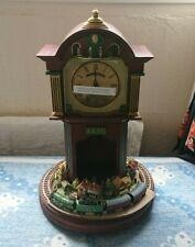 More details for bradford exchange flying scotsman table clock 4472 trains lner mahogany wood