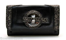 MIMCO POSEIDON LARGE LEATHER WALLET IN BLACK BNWT RRP$229