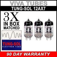 New Gain Matched Trio (3) Tung-Sol Reissue 12AX7 ECC83 Tubes - Authorized Dealer