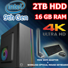 Intel Dual Core Home Office & Gaming Desktop Computer System PC 16GB RAM | 2TB |
