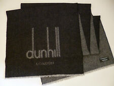 Dunhill mens cashmere & merino scarf charcoal grey NEW winter wool luxury