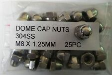 M8 X 1.25 MM Metric Stainless Steel SS304 Dome Cap Nuts x25pc