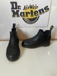Dr. Martens 2976 Comfy Chelsea Black Leather Boots Size UK 2.5 EU 35
