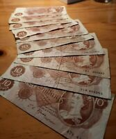 Old 10 /- Shillings - Bank of England -Banknote/ collectable - various Cashiers