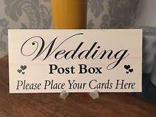 Shabby & Chic Wedding signs Plaques, Gift Present Wedding Post Box