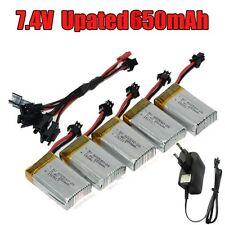 5in2 Charger+5x 7.4V 650mAh battery for JJRC H8C H8D DFD F182 F183 RC Quadcopter