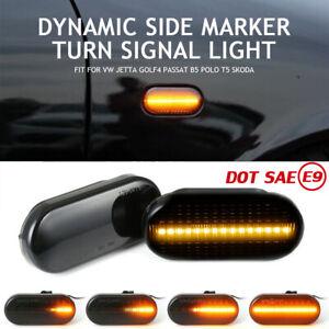 LED Dynamische Seitenblinker Blinker Für VW GOLF PASSAT LUPO T5 SEAT LEON IBIZA