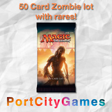 50 Card Zombie lot Magic MTG w/ Rares + FREE bonus Rares & Booster Packs!