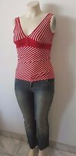 Plus Size Chic Outfit -  Denim Jeans Size 16 AND Red/White Striped Top Size M