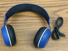 Skull Candy Grind On Ear Wired Headphones Blue Good Condition