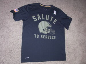 CLEVELAND BROWNS Nike Dri Fit black Salute To Service shirt men's Large