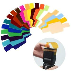 Flash Speedlite Color Gel Filters kit for Canon Nikon Yongnuo New
